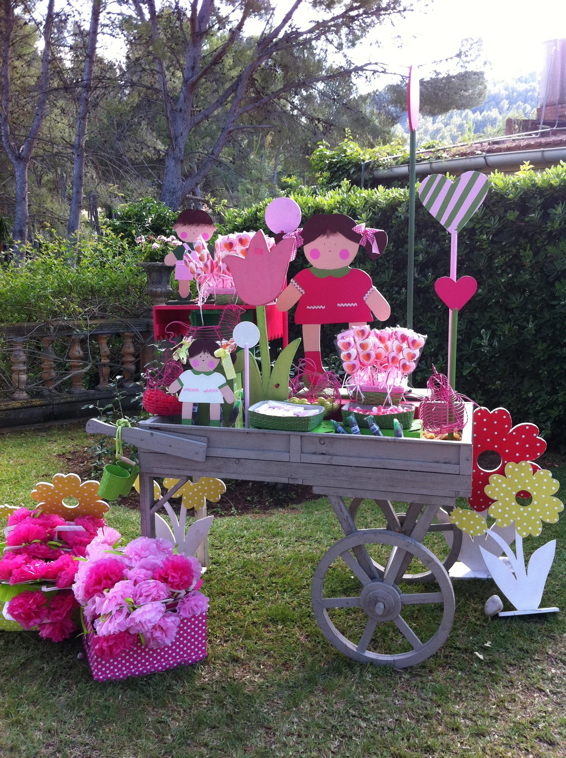 Mesa de dulces para primera comuni n bubblykido - Preparar mesa dulce para comunion ...
